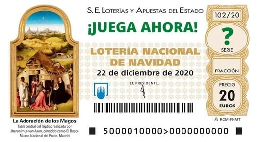 Comprar decimos de Loteria de Naviidad 2020 online